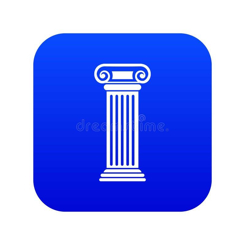 Azul digital do ?cone romano da coluna ilustração do vetor