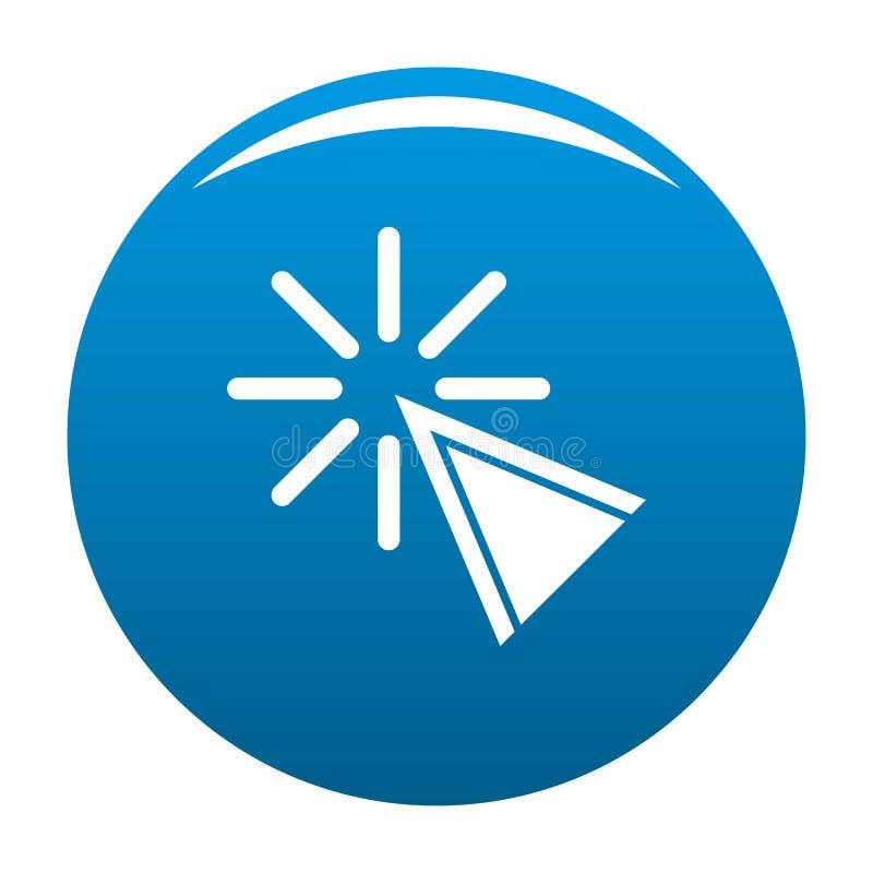 Azul do ícone do clique do cursor ilustração do vetor