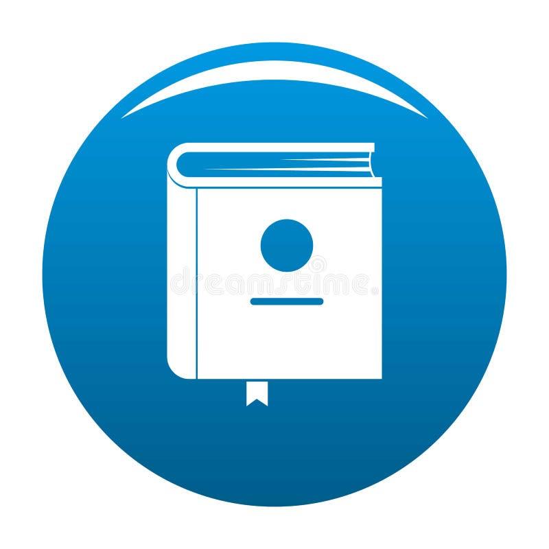 Azul do ícone da enciclopédia do livro ilustração stock