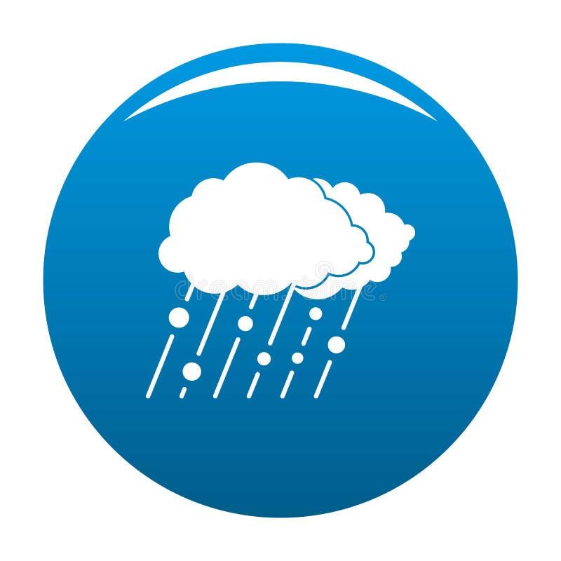 Azul do ícone da neve da chuva da nuvem ilustração stock