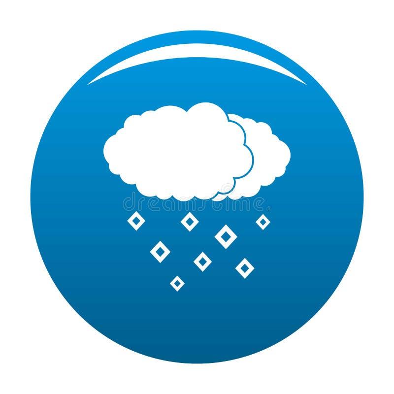 Azul do ícone da nuvem da neve ilustração stock