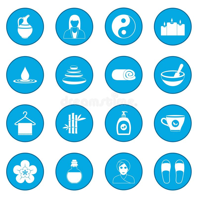 Azul do ícone dos termas ilustração royalty free