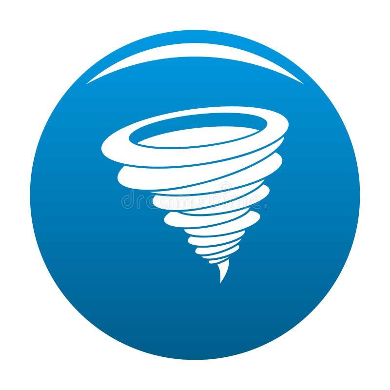 Azul do ícone do furacão ilustração stock