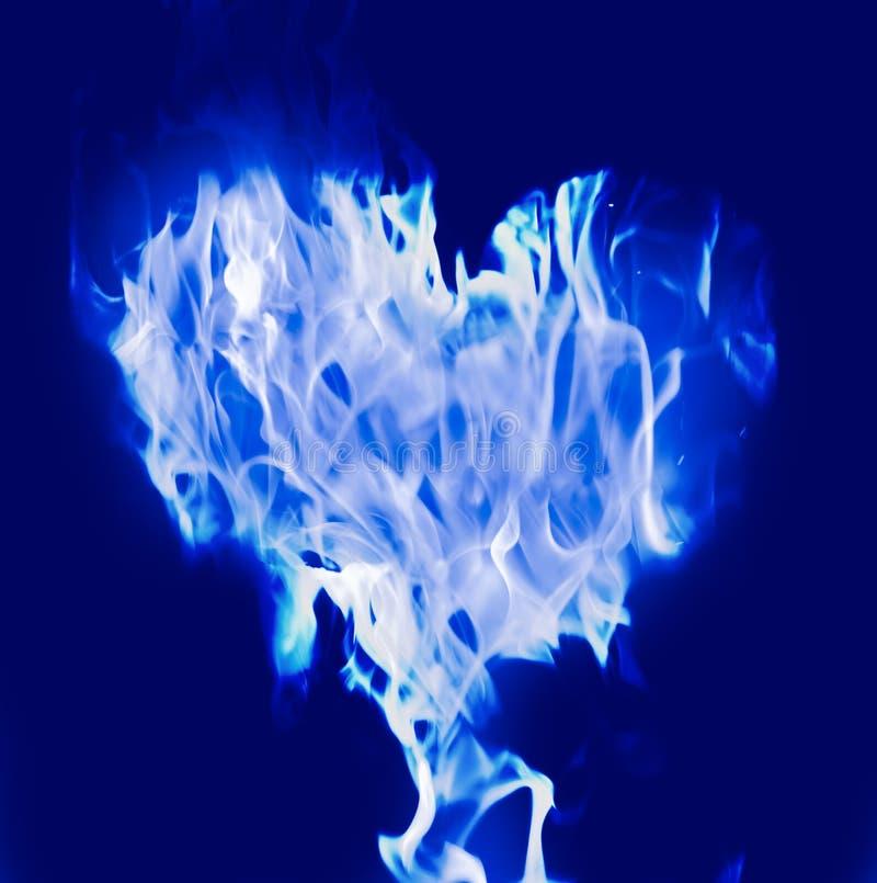 Azul do coração foto de stock