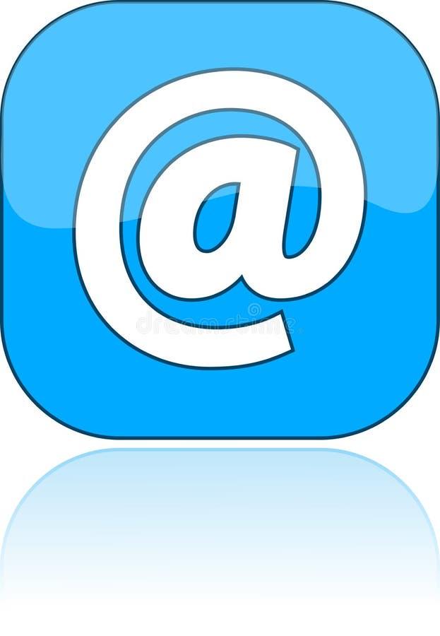 Azul do email do ícone, ilustração ilustração stock