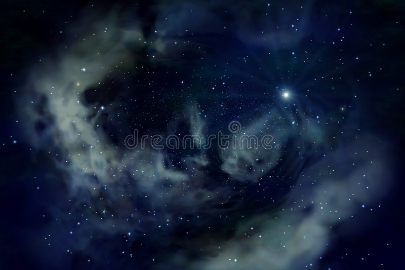 Azul do espaço ilustração stock