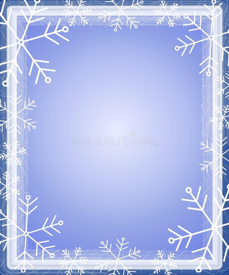 Azul do frame da beira do floco de neve ilustração do vetor