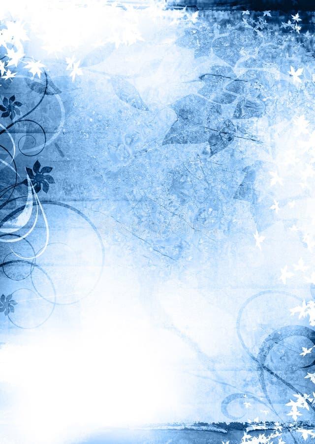 Azul do fundo de Grunge imagens de stock