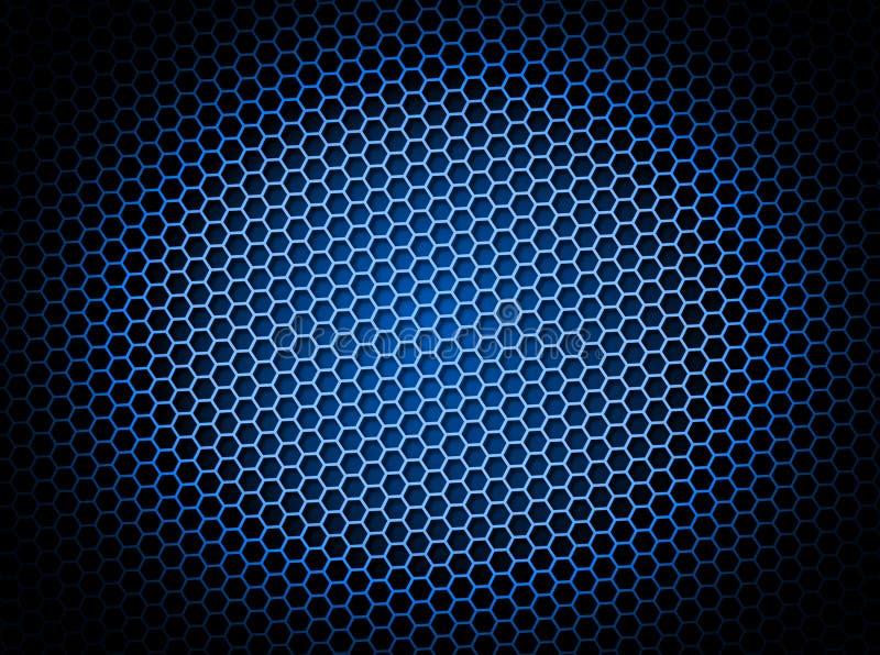 Azul do fundo do favo de mel ilustração do vetor