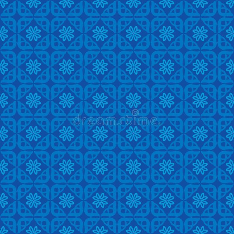 Azul do fundo do teste padrão do amor do ornamento ilustração stock