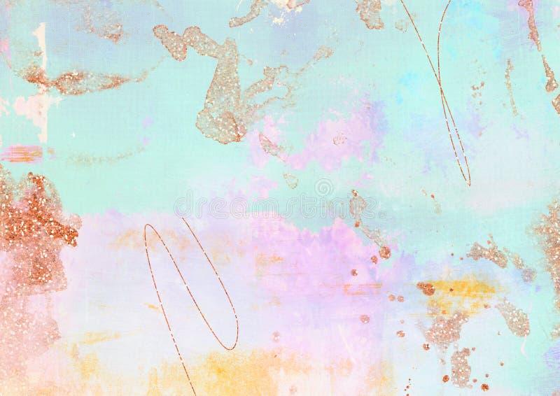 Azul do inclinação, fundo textured sujo roxo e effe do brilho ilustração stock