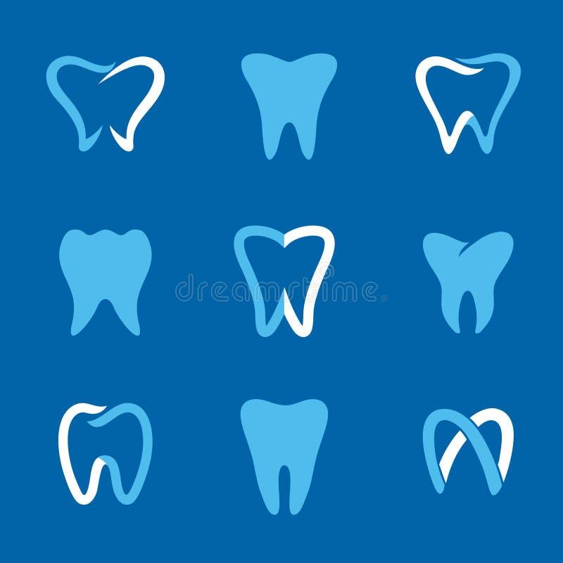 Azul do logotipo dos dentes ilustração royalty free