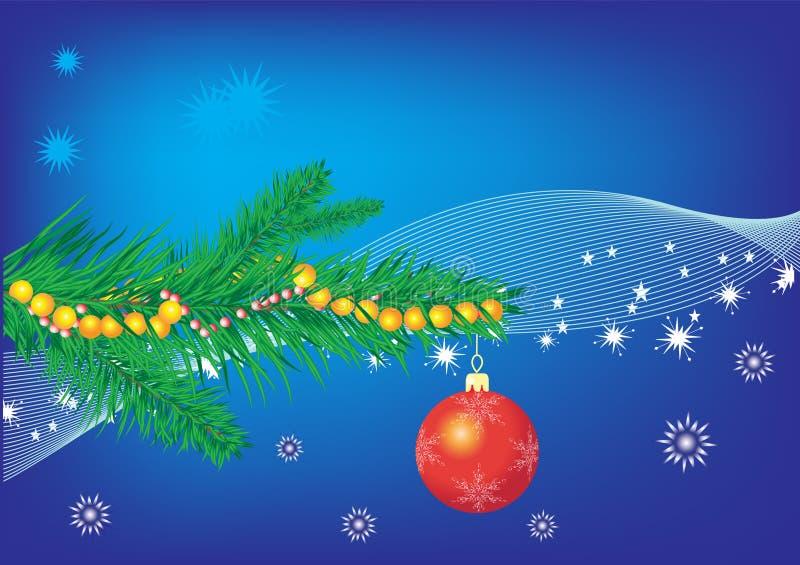 Azul do Natal ilustração do vetor