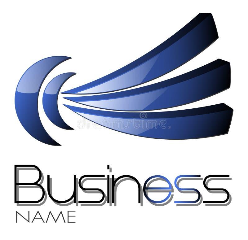 Azul do projeto do logotipo ilustração stock