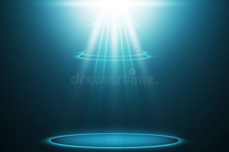 Azul do projetor do partido no fundo de fase ilustração royalty free