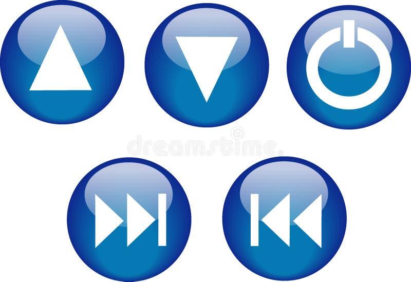 Azul do reprodutor de CDs das teclas ilustração royalty free