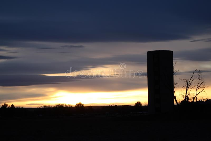 Azul do silo foto de stock royalty free