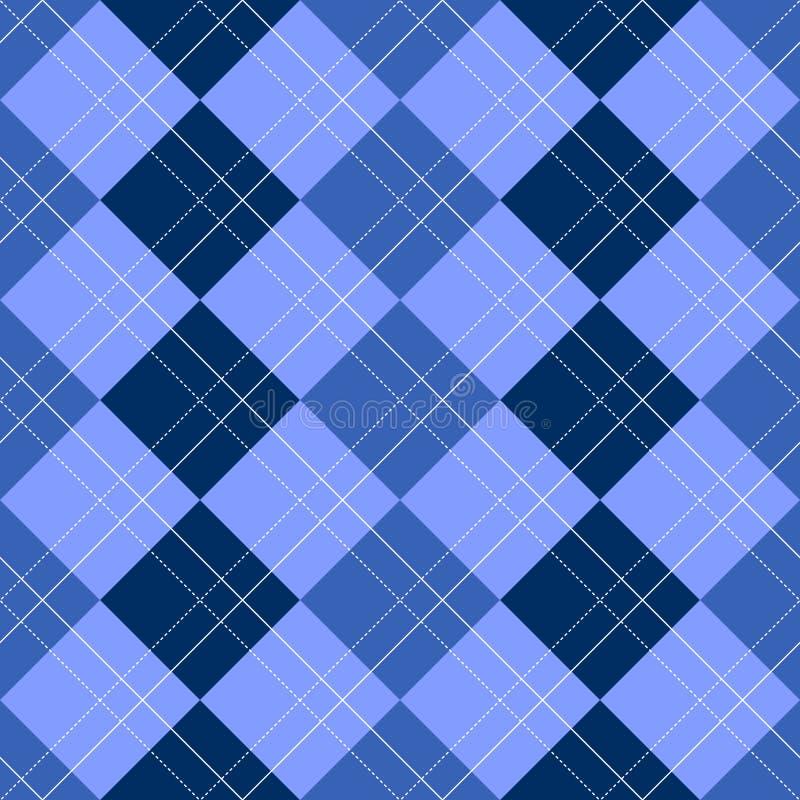 Azul do teste padrão de Argyle ilustração royalty free