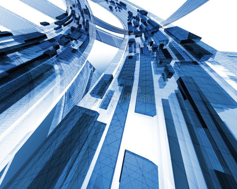 Azul do tráfego de informação ilustração royalty free