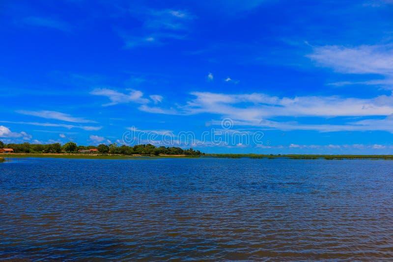 Azul do verde azul da paisagem imagens de stock