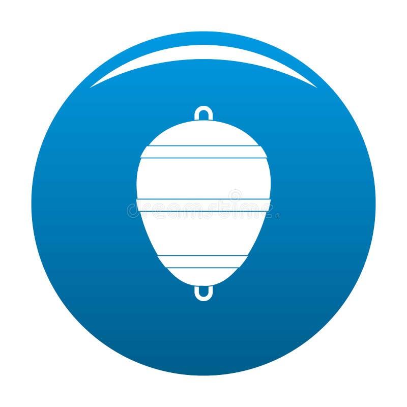 Azul do vetor do ícone do Bobber ilustração stock