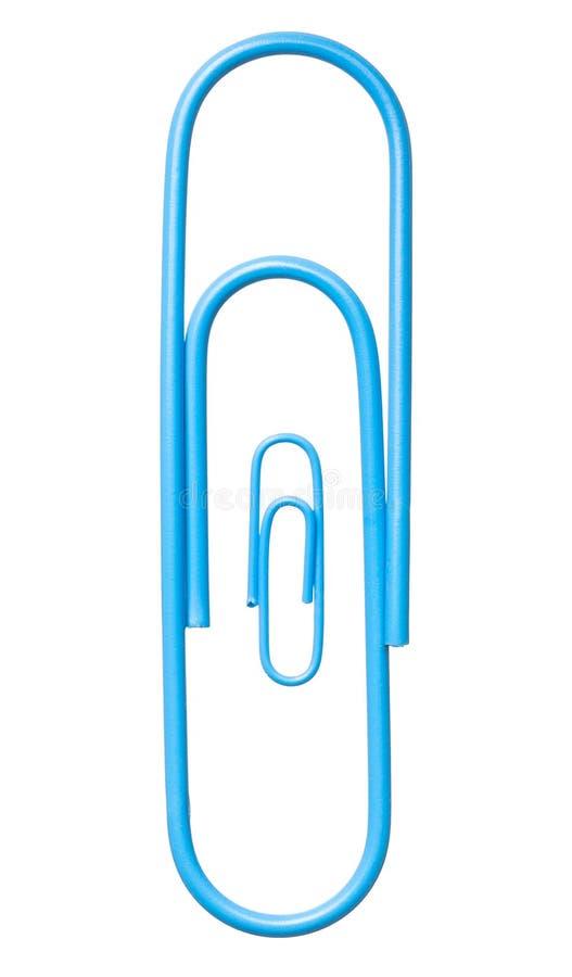 Azul dois isolado sobre a gravidez branca do representante dos grampos foto de stock