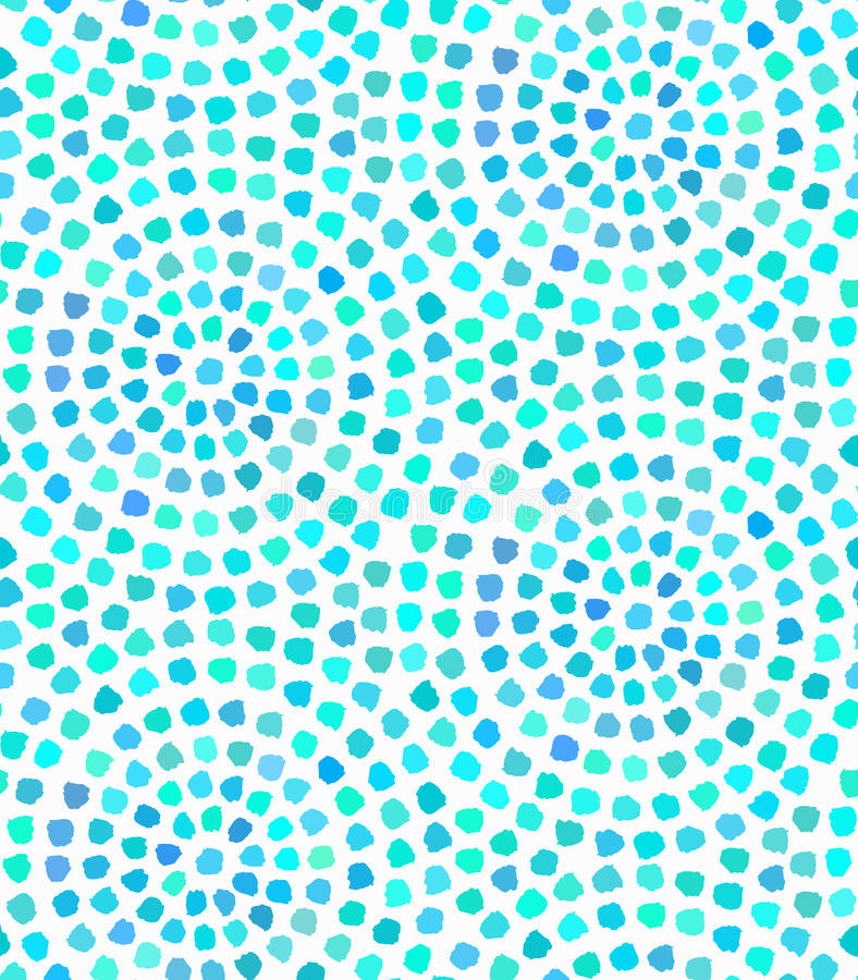 Azul Dots Painted Seamless Pattern do vetor ilustração do vetor