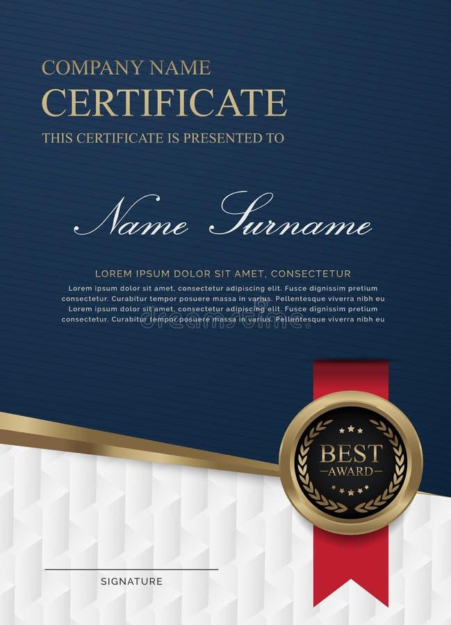 Azul e branco do certificado fotos de stock royalty free