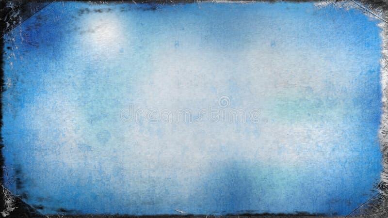 Azul e fundo elegante bonito do projeto da arte gráfica da ilustração de Grey Dirty Grunge Texture Background ilustração do vetor