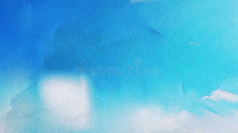 Azul e fundo elegante do projeto da arte gráfica da ilustração de Grey Grunge Watercolor Texture Beautiful ilustração do vetor