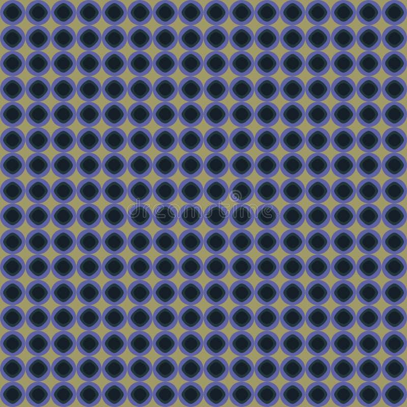 Azul e teste padrão do círculo de Biege fotografia de stock