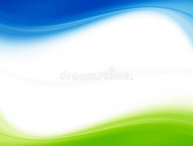 Azul e verde imagem de stock royalty free