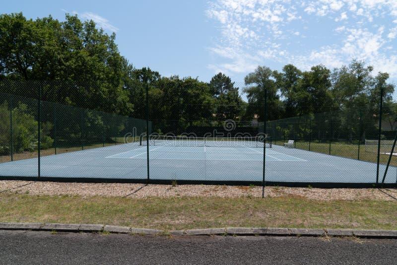 Azul e verde para a quadra de tênis ao ar livre fotos de stock
