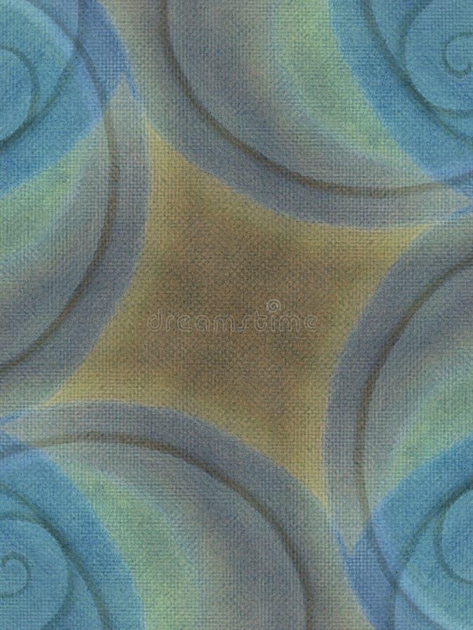 Azul Earthy do fundo da lona imagens de stock