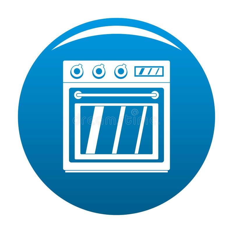 Azul eléctrico del vector del icono del horno stock de ilustración
