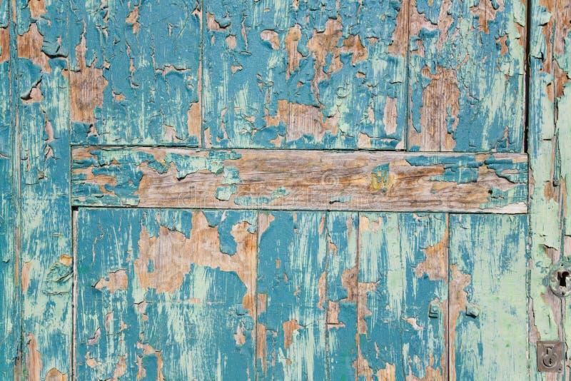 azul en pintada puerta 免版税库存照片
