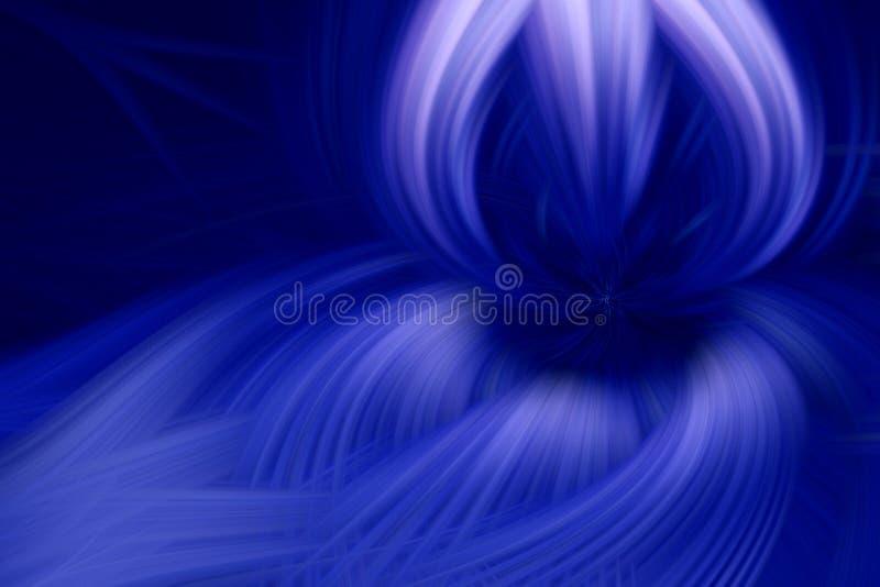 Azul escuro do fundo do fractal da chama tempestade ilustração royalty free
