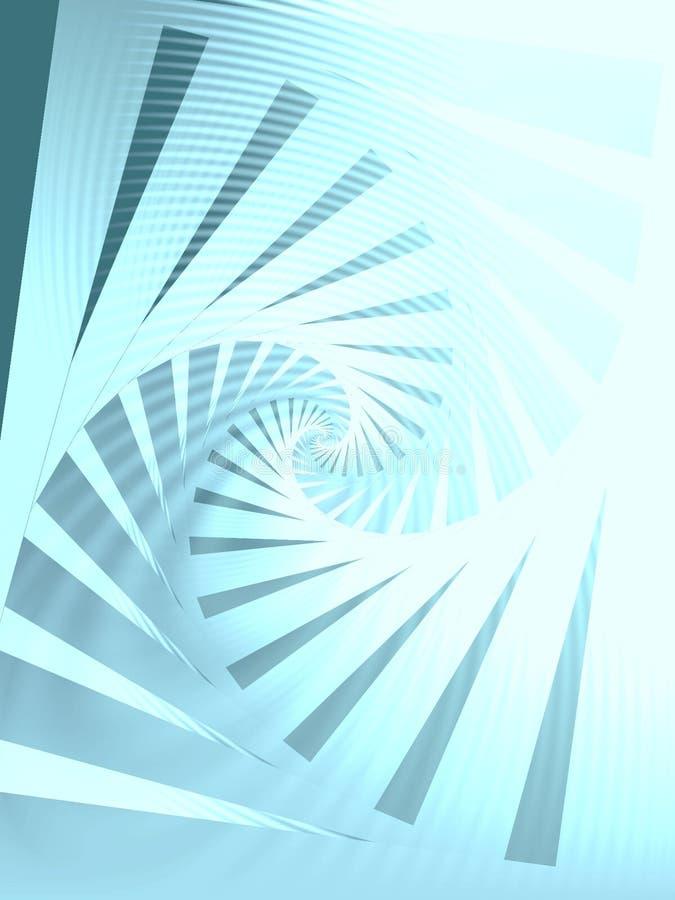 Azul espiral sentido horário do teste padrão ilustração do vetor