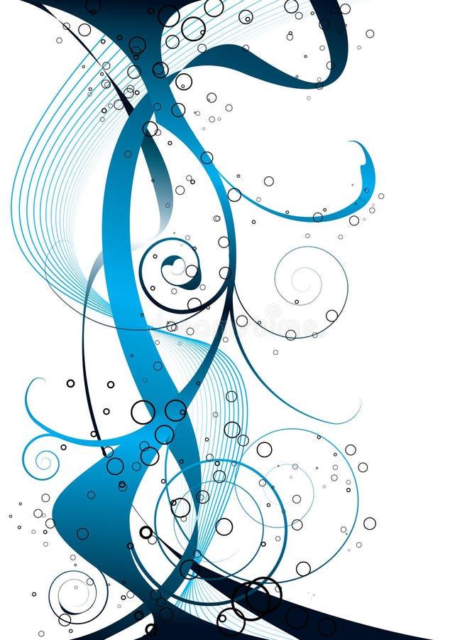 Azul extra do fluxo ilustração do vetor