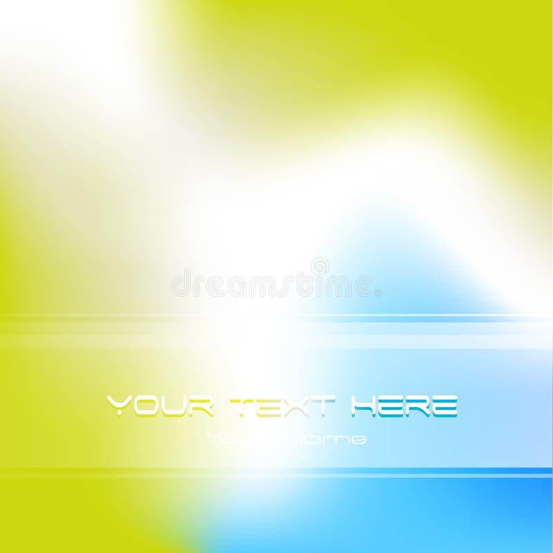 Azul, fundo abstrato do verde ilustração stock