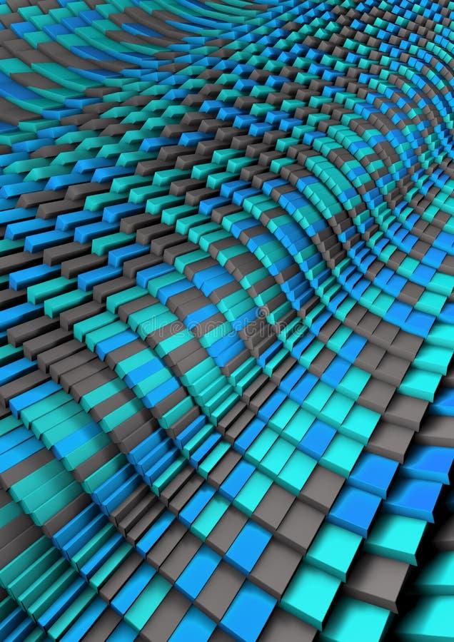 Azul Grey Abstract da onda do tijolo imagens de stock royalty free