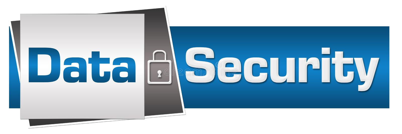 Azul Grey Horizontal de la cerradura de la seguridad de datos libre illustration
