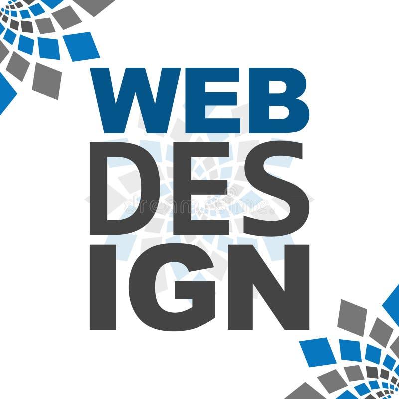 Azul Grey Square Elements do design web ilustração royalty free