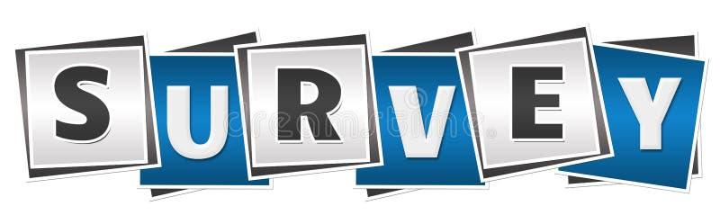 Azul Grey Squares de la encuesta stock de ilustración