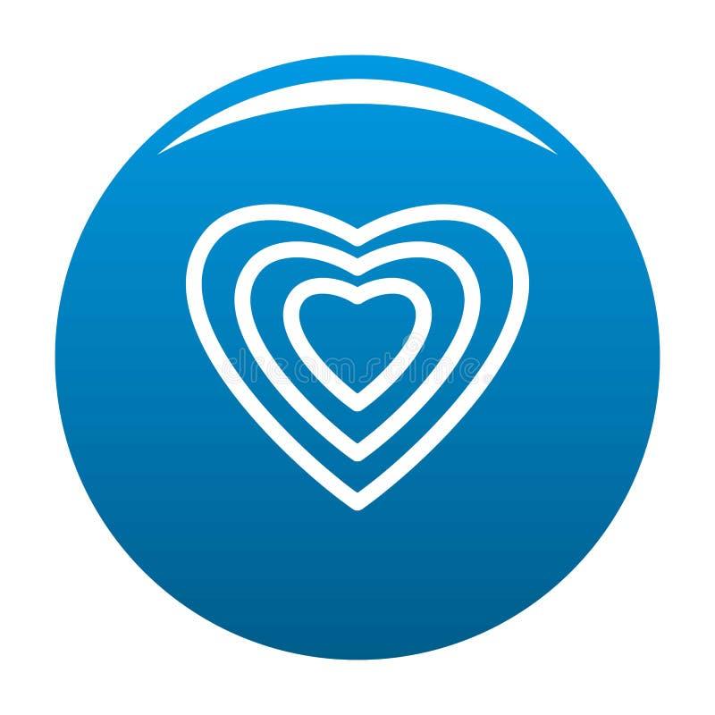 Azul humano do ícone do coração ilustração royalty free