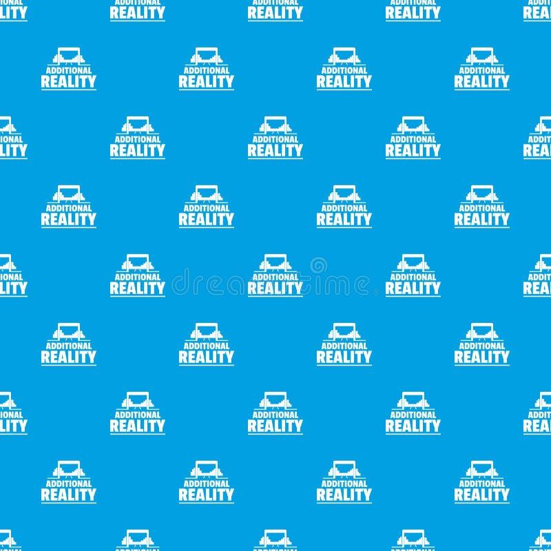 Azul inconsútil de la realidad del juego del vector adicional del modelo stock de ilustración