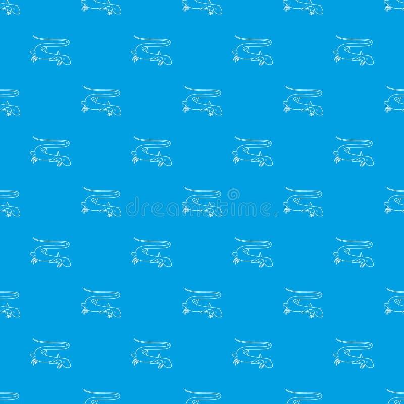 Azul inconsútil del lagarto del vector enérgico del modelo libre illustration