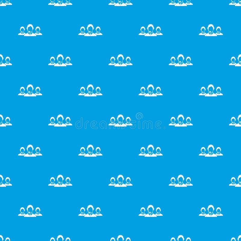 Azul inconsútil del modelo de los operadores de la atención al cliente stock de ilustración