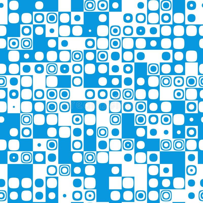 Azul inconsútil del mosaico del icono de la textura del modelo del azulejo ilustración del vector