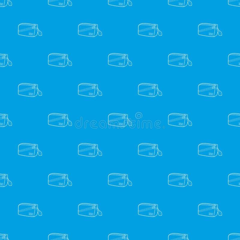 Azul inconsútil del vector del modelo del bolso de la cintura stock de ilustración